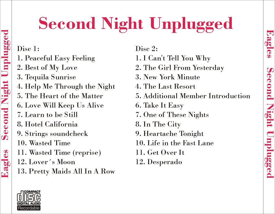 Tonight Is Last Night For Alternate >> Lossless Search Results For Eagles The Eagles Mtv Unplugged Second