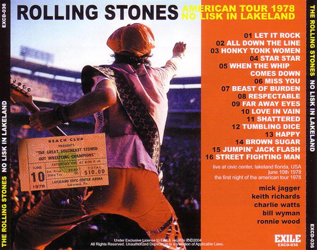 Lossless Search Results for The Rolling Stones - No Lisk In